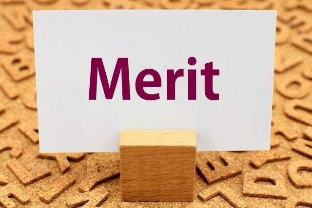 meritと印刷されたポストカード/